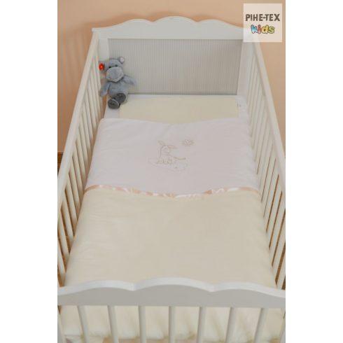 Vaníliaszín, hímzett csacsis baba ágynemű huzat (98)