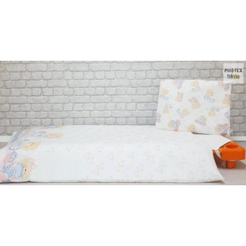 Pihe- Rózsaszín pizsamás mackók gyermek-, ovis ágynemű huzat  (P-512/R)